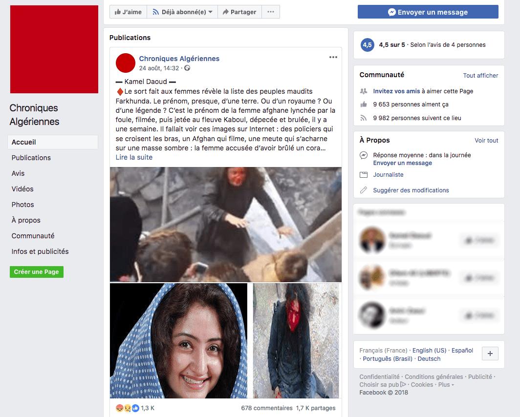 Chroniques algériennes_Facebook